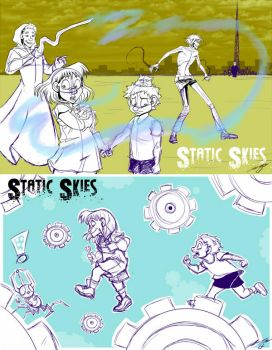 Static Skies - WIP Illustrations by ZaraLT