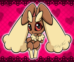 Chibi Lopunny by drinkyourvegetable