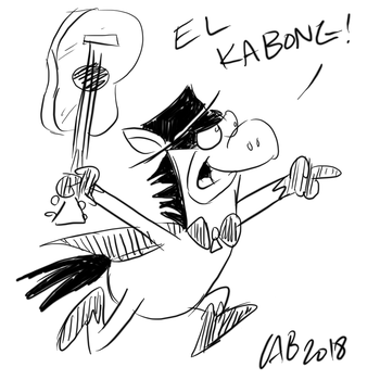 Toon June Day 6: Quick Draw McGraw by bakertoons