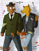 Night In The Woods - Gregg and Angus by summerfelldraws