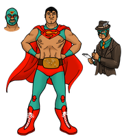 Lucha League: Superman by HarrisonGrey