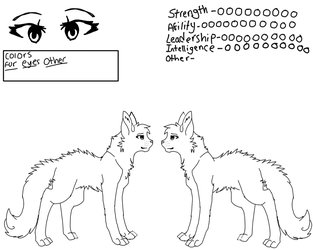 Free Warrior Cat Female Template by Messyburr-sir
