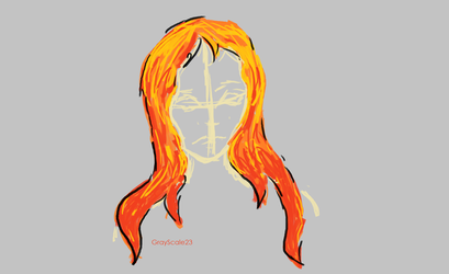 Fire Hair by GrayScale23