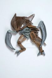 Pokemon Paper Quilling Art 141 Kabutops by wholedwarf