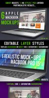 6 Realistic Laptop Apple Macbook Mock-Ups by Dee-A