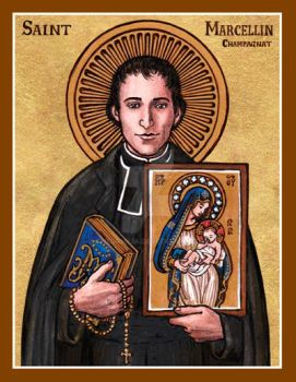 Saint Marcellin Champagnat icon by Theophilia