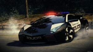 NFS Hot Pursuit Reventon police by Bacurok