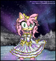 Amy Rose: Aurora Winter by The-White-Hedgies