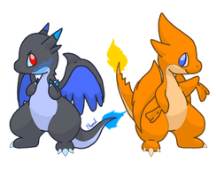 Mega Charizard X and Y by Supercyborgdino
