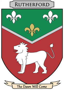 Rutherford Heraldry (fictional) by U2QueenBee