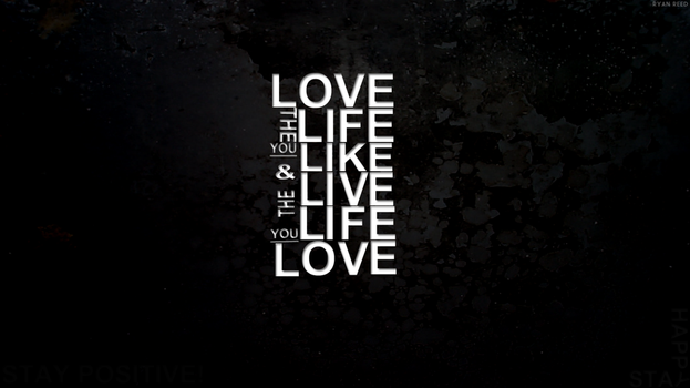Live Life Typography Wallpaper by ryanr08