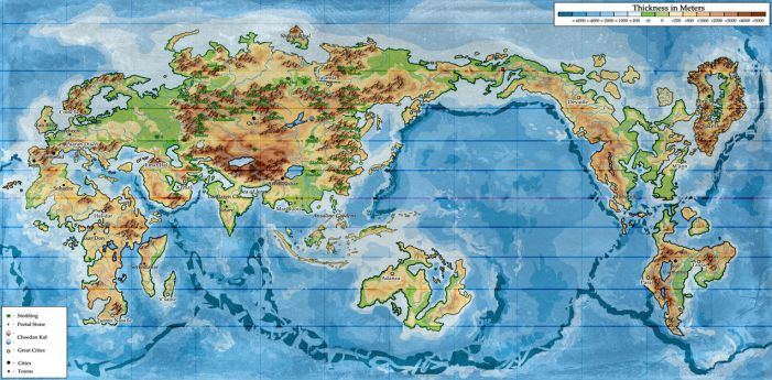 Wheel of Time world map: Second Age by KemonoKage