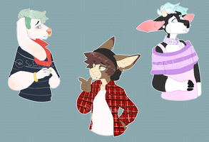 Stripes galore bust adopts [CLOSED] by SirFancyWolf
