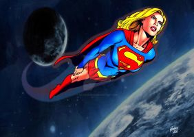 Supergirl in Space 2 by Patrick75020