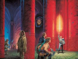 'The Dragon Reborn' cover by Darrell K. Sweet by ArcangHell