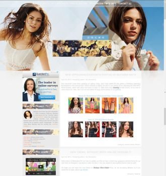 Bethany Mota Wordpress Theme by BurningBrightDesigns