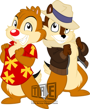 Retro Thursday: Chip 'N Dale by TheArtsyEmporium