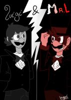 Luigi and Mr.L (Jekyll and Hyde) by mariogamesandenemies