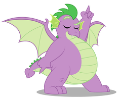 Grown up Spike - Dancing by AleximusPrime