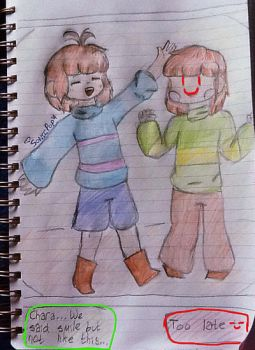 Frisk and Chara (For TC-96) by SonicPup