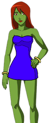 Miss Martian in a dress by KaijuBoy455
