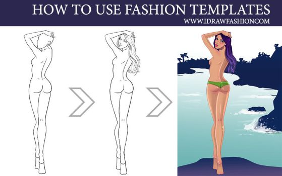 How to use fashion templates 2 by idrawfashion