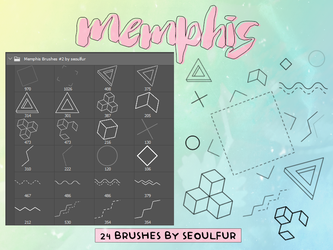 Memphis Brushes Pack #2 by seoulfur