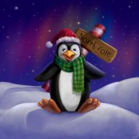 Penguin at the North Pole by Nyrak
