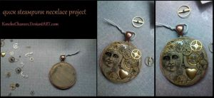 Quick Steam Punk Necklace Project by KonekoChan101