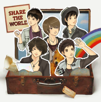 DBSK - share the world anime by AcchanChangmin