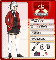 Carol Ling [ Academia-Cross ] by PinkSheDemon