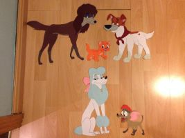 Disney Paper Characters: Oliver and Company by JustSomePainter11