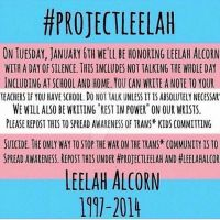 Do it for Leelah. #ProjectLeelah by DoctorSiggy