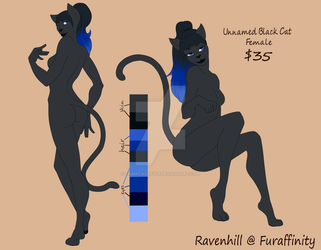 Black Cat Adoptable - Open by Timbrewolf823