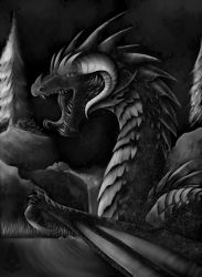 Dragon By The Falls by DracoFreak899