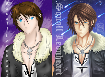Squall Leonheart - Redraw Again by Heart-tsukikage