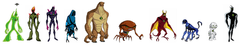 3 Set of Alien Forms by Bentenny10