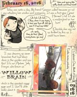 Owl and Willow Brain Journal by ursulav