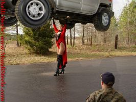 superheroine lifts a hummer by ilikesuperwomens