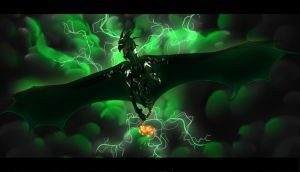 Black n' Green Fightin' Machine by DragonPortal