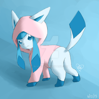 Hooded Glaceon by BluuKiss