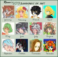2013 summery of art by RavenMomoka