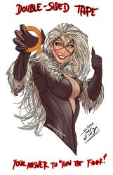 ever wonder how black cat keeps her costume on? by nebezial