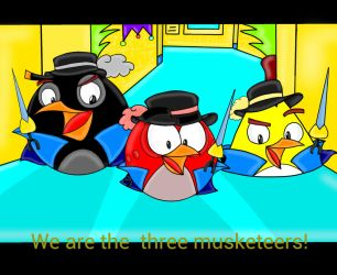 Angry Birds The 3 musketeers by Oceanegranada