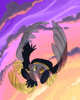 Falling Feathers by DrakynRoll