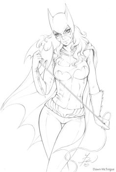 Batgirl Commission Pencils by Dawn-McTeigue