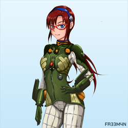 Mari - Green Plugsuit by 73H-FR33M4N