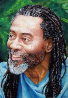 Bobby Mcferrin goache painting by Giulianobuffi