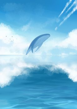 Ocean and the Whale by elainechen