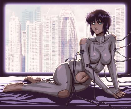 Major Kusanagi - Ghost in the Shell by EddieHolly